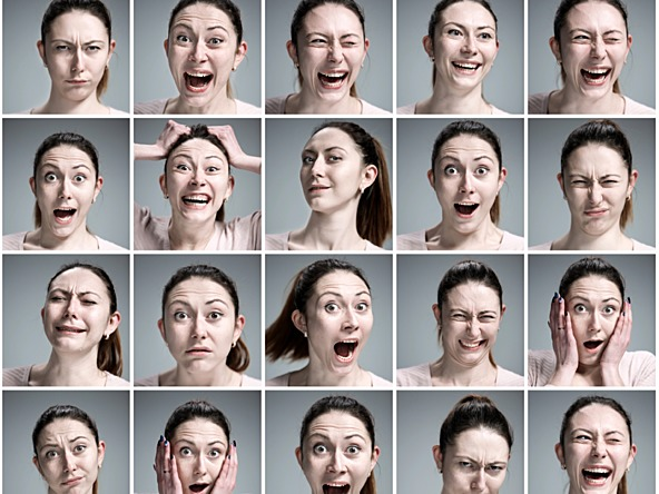 Recognition of facial emotions